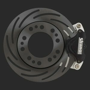 Pro Series Spindle Mount Brake Kit-For Strange Aluminum Struts with 2 or 3 Piece Wheels-Single Piston Calipers; One Piece Slotted Rotors-B4598WC