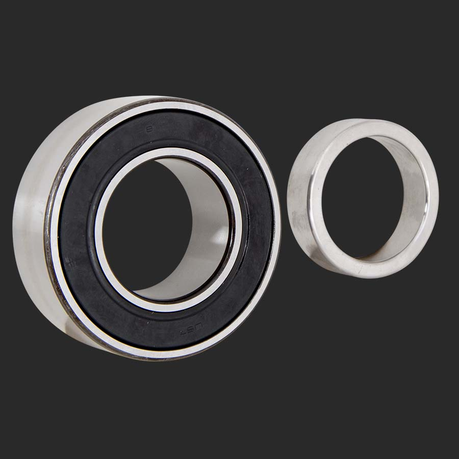 Sealed ball style axle bearing for od housing ends
