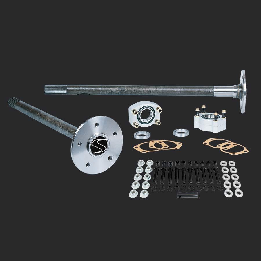 Strange alloy axle package for 1986 1993 mustang 8 8 rear end 31 spline alloy axles c clip eliminator kit 5 8 stud kit