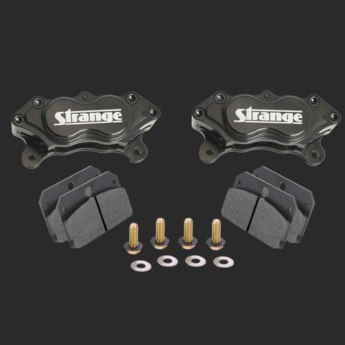 Pro Series 4 Piston Billet Caliper Kit | With Soft Metallic Brake Pads & Mounting Hardware-B1950