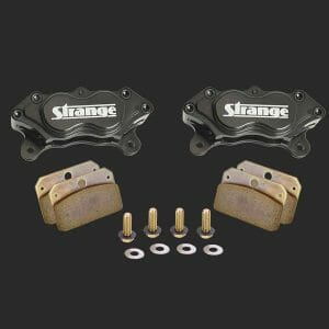 Pro Series 4 Piston Billet Caliper Kit | With Hard Metallic Brake Pads & Mounting Hardware-B1955