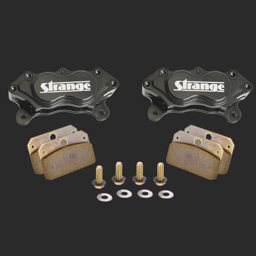 Pro Series 4 Piston Billet Caliper Kit   With Hard Metallic Brake Pads & Mounting Hardware-B1955