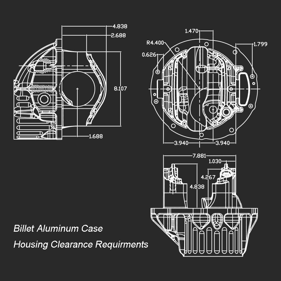 Billet Case Hsg Clearance
