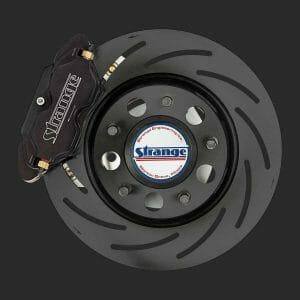 Strange Pro Series Low Drag Front Brake Kit | 2010-2015 Chevrolet Camaro | 4 Piston Calipers & One Piece Slotted Rotors-B4181WC